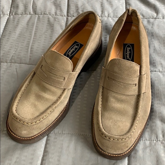 Rockport Tan Suede Loafers Sz 9m